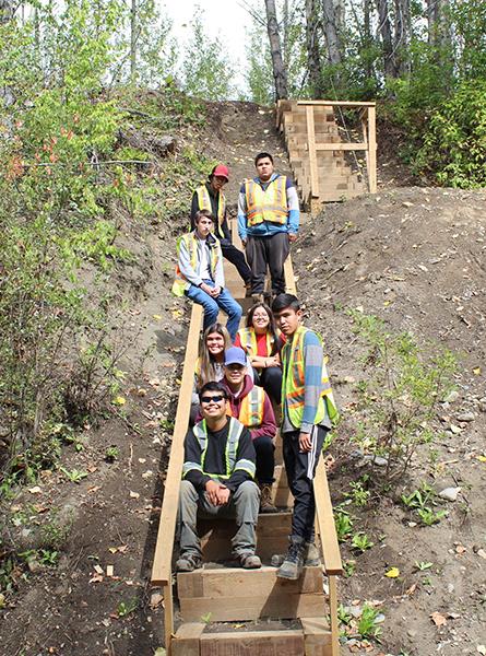 Career Discoveries stairway build