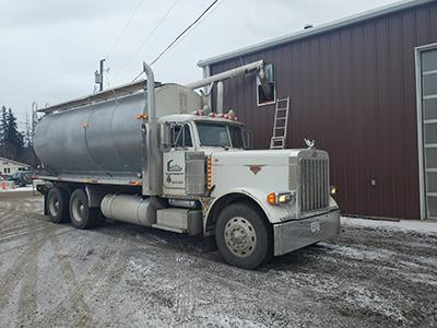 Gitxsan Energy Inc pellet truck